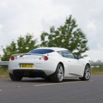 Evora IPS – On the Road – Rear, cornering
