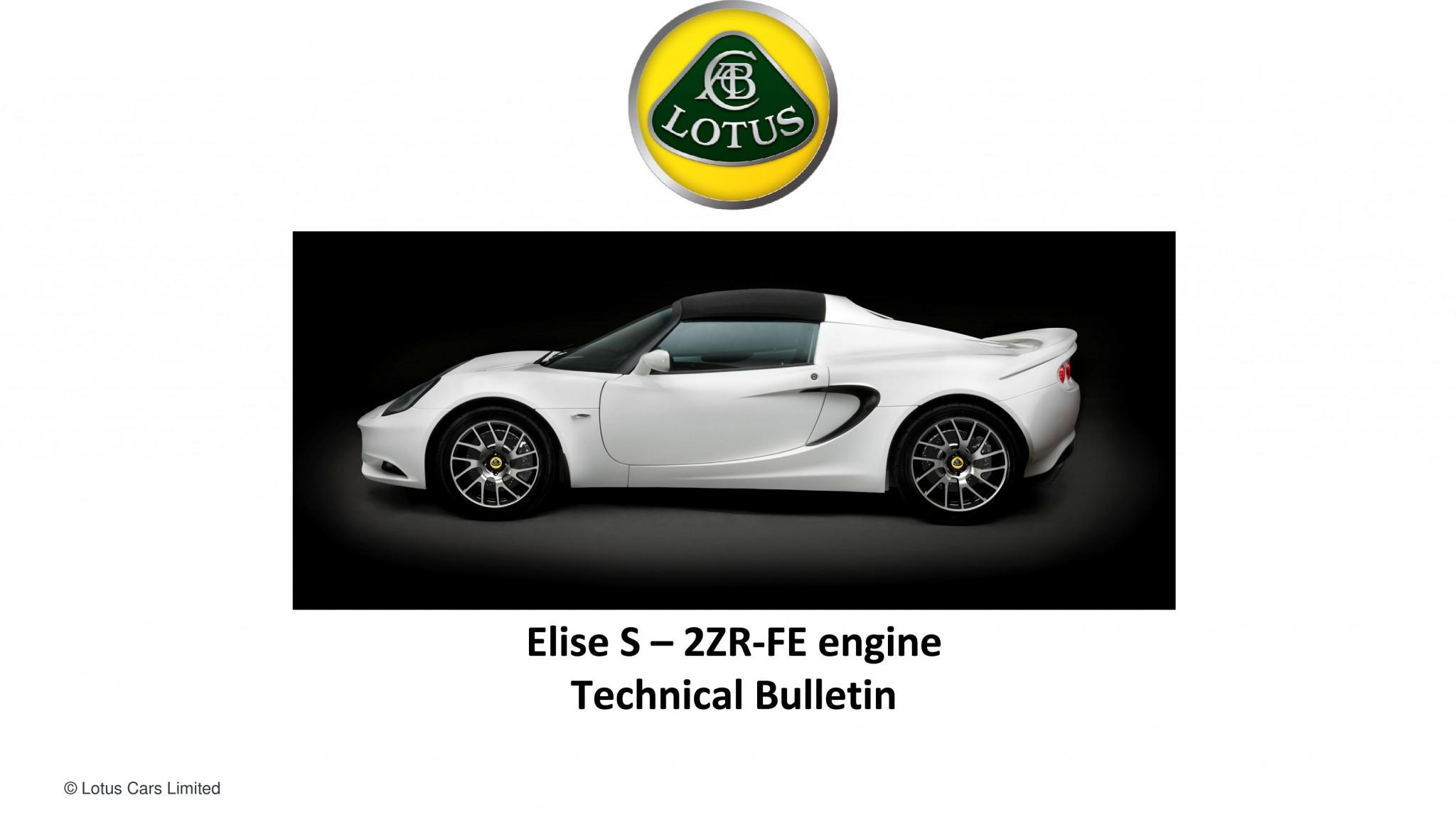 Elise S Engine Details | SELOC