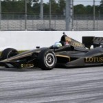 Lotus Indycar engine takes to the track with HVM Racing