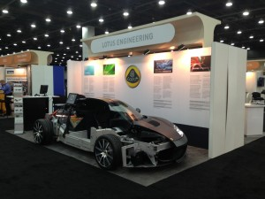 Lotus Evora 414E cut through at SAE World Congress 2013