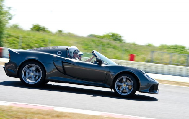 Despite a road-going bias the Exige S Roadster could keep doing this all day.